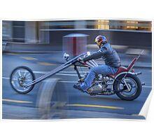 Triumph Chopper in motion Poster