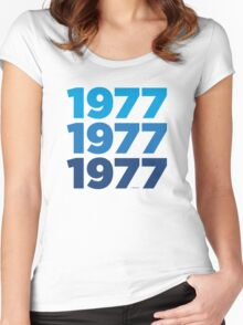 1977 Stacked Women's Fitted Scoop T-Shirt