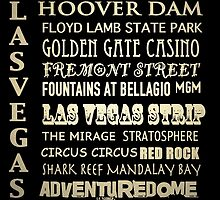 Las Vegas Famous Landmarks by Patricia Lintner