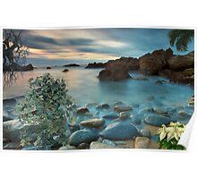 1502-XL-Blue Mist Sunset Poster
