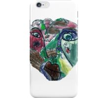 Primary Impression on White by Mikey Hansen iPhone Case/Skin