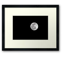 New Years Eve Moon Framed Print