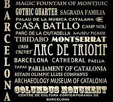 Barcelona Spain Famous Landmarks by Patricia Lintner