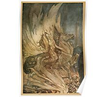 Siegfried & The Twilight of the Gods by Richard Wagner art Arthur Rackham 1911 0305 Rear Plate Poster