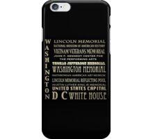Washington DC Famous Landmarks iPhone Case/Skin