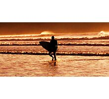 sunset surfer Photographic Print