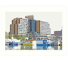 This is Hobart Docks - Tasmania 2010 Art Print