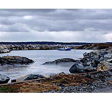 Blue Rocks-Tiny Harbour (1) Photographic Print