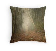 The Face in the Forest Throw Pillow