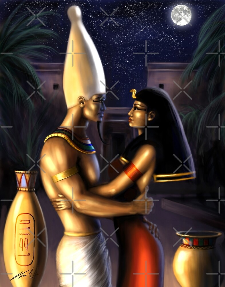 Osiris and Isis by Cellesria