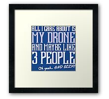 3 People, Beer, People, Care, Care About, Like 3, Maybe, Oh Yeah, Comic Books Framed Print