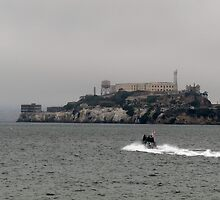 Alcatraz on a foggy Fall/Autumn Day by meredith175