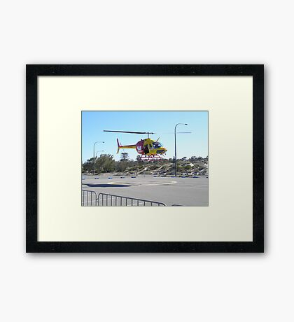 We're nearly up! Framed Print
