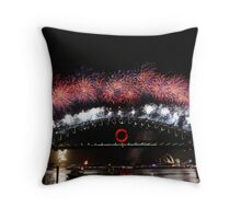 Sydney Fireworks 2009-2010 p4 Throw Pillow