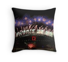 Sydney Fireworks 2009-2010 p6 Throw Pillow