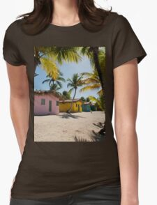 a colourful Dominican Republic landscape Womens Fitted T-Shirt