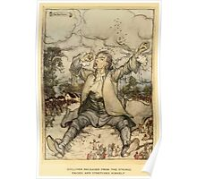 Gulliver's Travels by Jonathan Swift art Arthur Rackham 1899 0008 Gulliver Relased From the Strings Poster