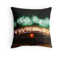 Sydney Fireworks 2009-2010 p8 Throw Pillow