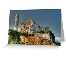 Alcatraz Lighthouse Greeting Card