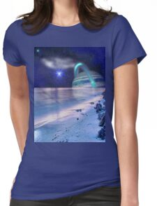 Space on the Beach Womens Fitted T-Shirt