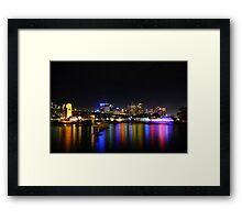 Sydney harbour NYE 2009-2010 Framed Print