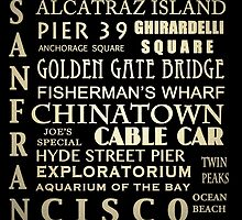 San Francisco Famous Landmarks by Patricia Lintner