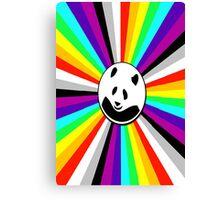 rainbow panda Canvas Print