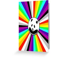 rainbow panda Greeting Card