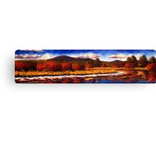Sunriver Snow on the Riverbanks Canvas Print