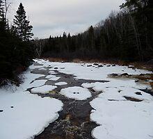 Frozen Baptism River by cjbenck