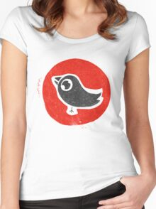 bird print T Women's Fitted Scoop T-Shirt