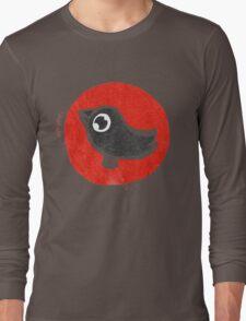 bird print T Long Sleeve T-Shirt