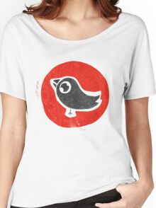 bird print T Women's Relaxed Fit T-Shirt