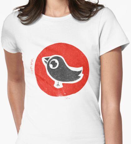 bird print T Womens Fitted T-Shirt