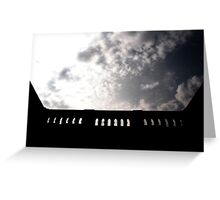 the sky up high Greeting Card