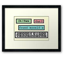 Cheerleader Lyrics Highlight Framed Print