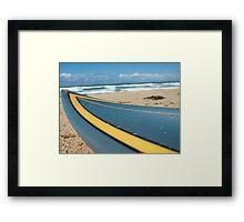 Wet Surfboard Framed Print
