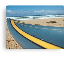 Wet Surfboard Canvas Print