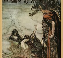 Siegfried & The Twilight of the Gods by Richard Wagner art Arthur Rackham 1911 0275 Though Gaily Ye May Laugh by wetdryvac