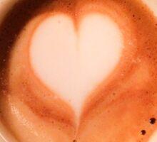 Heart Coffee Sticker