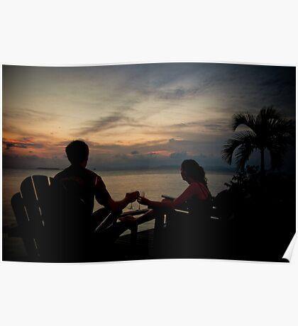 Sunset Over Kapalai Poster