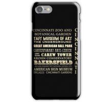 Cincinnati Ohio Famous Landmarks iPhone Case/Skin
