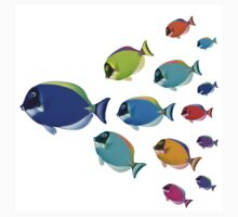 School of colorful fish  T-Shirt