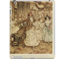A Christmas Carol by Charles Dickens art by Arthur Rackham 1915 0133 The Way He Went After That Plump Sister iPad Case/Skin
