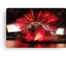 New Year Red Eye Canvas Print