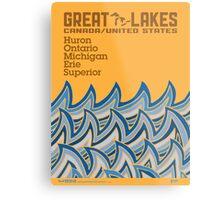 "Great Lakes ""HOMES"" Metal Print"