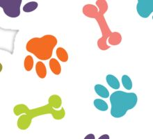 doggy steps design t-shirt Sticker