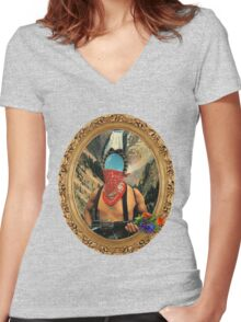 FRIENDLY WARRIOR. Women's Fitted V-Neck T-Shirt