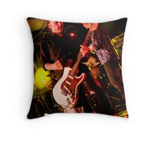 Smokin' Guitar Throw Pillow