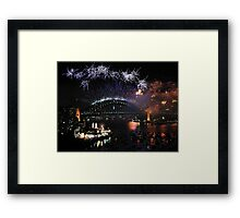 Let There Be Light # 3- Sydney New Years Eve Framed Print